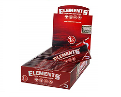 ELEMENTS RED SLOW BURN HEMP PAPERS エレメントローリングペーパー レッド ヘンプ 1-1/4