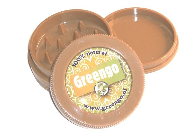 Greengo Plastic Grinder Brown